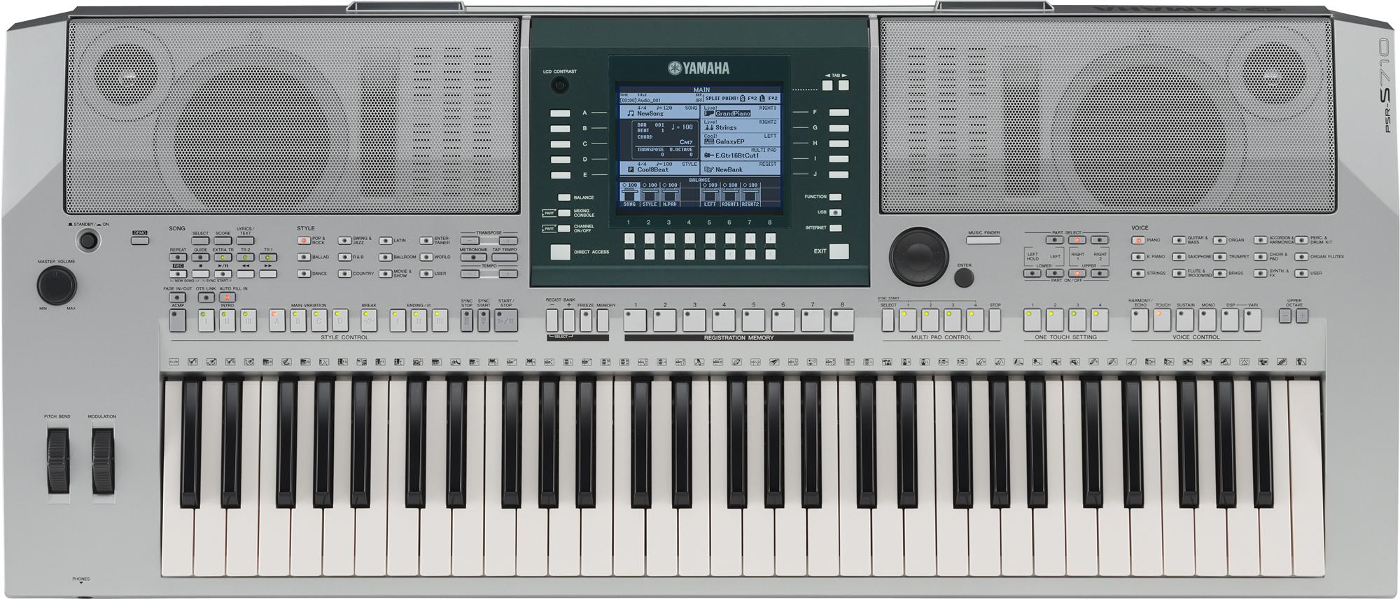 N organ yamaha psr s710 for Yamaha psr s